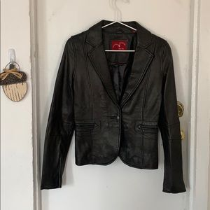 Levi's red tab leather blazer